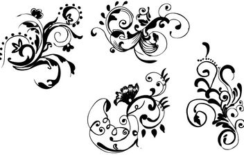 Hand Drawn Floral - vector gratuit #172685