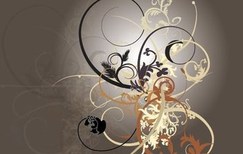 Swirly Curls - Sick Brush Kit - Free vector #172855
