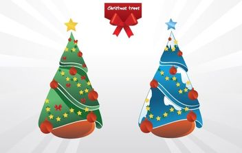 Christmas trees vector - Free vector #172865