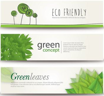 Fresh Eco Concept 3 Banners - Free vector #172895