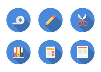 Minimal Office & Stationary Icon Set - vector gratuit #172955