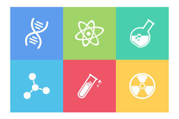 Flat Scientific Icons Pack - vector gratuit #172975