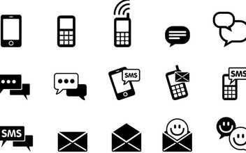 Simplistic IMS & SMS Icon Pack - vector #173115 gratis