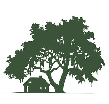 House & Oak Tree Silhouette Landscape - Free vector #173145