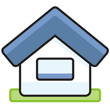 Cute Simplistic House Icon - vector #173175 gratis