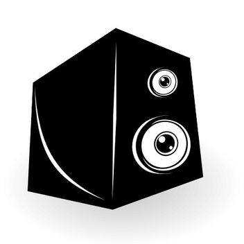 Abstract Funky Looking Speaker Box - Free vector #173205