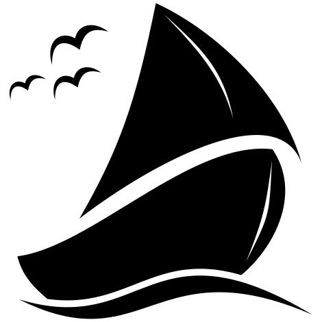 Abstract Creative Sailing Boat Artwork - vector #173215 gratis