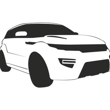 Range Rover Evoque Car Sketch - бесплатный vector #173225