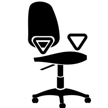 Office chair vector - vector gratuit #173255