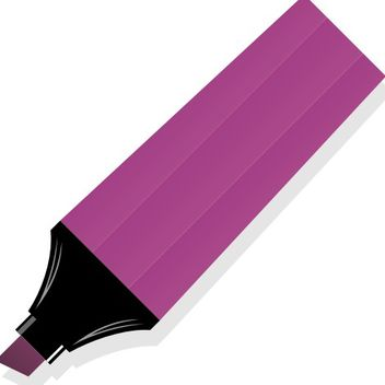 Flat Purple Color Marker Pen - vector gratuit #173275