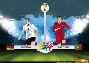 Germany vs. Portugal match Brazil 2014 - vector gratuit #173405