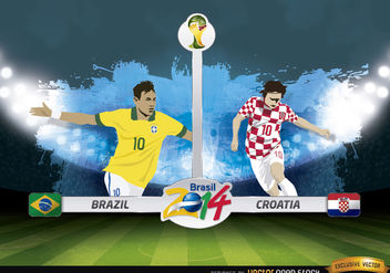 Brazil vs. Croatia match Brazil 2014 - vector gratuit #173415