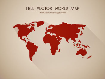Flat Detailed Shape World Map - vector gratuit #173425