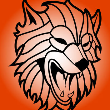 Outline Rabid Wolf Head - vector gratuit #173585