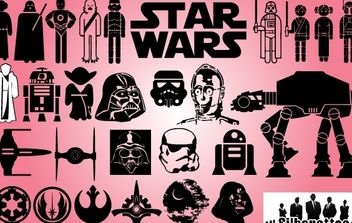 Starwars Day Icon Pack - vector gratuit #173705