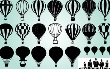 Several Air Balloon Pack - vector gratuit #173715