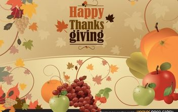 Thanksgiving Greeting Card - vector gratuit #173725