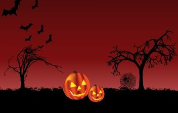 Scary Halloween Night Layout - Free vector #173845