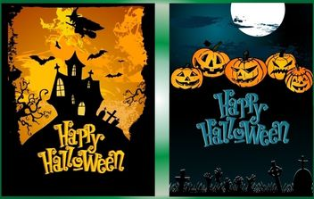 Halloween Night Poster Pack - бесплатный vector #173855