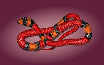 Toxic Snake with Detail Body Stripe - vector #173895 gratis