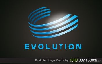 Evolution logo - vector gratuit #173925