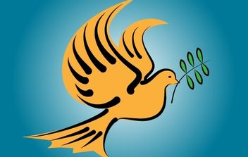 Flying Dove Bird of Peace - Free vector #173945