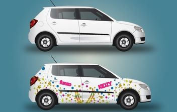 Car with Wrapping Design - Kostenloses vector #174025