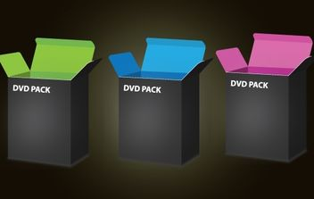 3D DVD Box Template Pack - vector gratuit #174035
