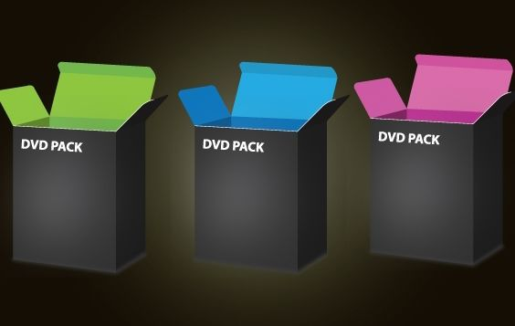 3d Dvd Box Template Pack - Free vector #174035