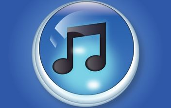 Stunning 3D ITune Button - бесплатный vector #174045