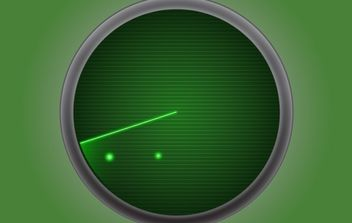 Radar Icon Green - Kostenloses vector #174115