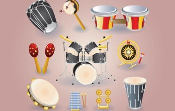 Musical Instrument Pack - Free vector #174125