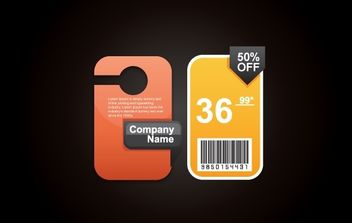 Beautiful Price Tag with Barcode - vector gratuit #174235