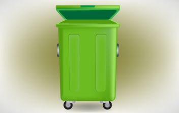 High Detail Dust Container - vector gratuit #174305