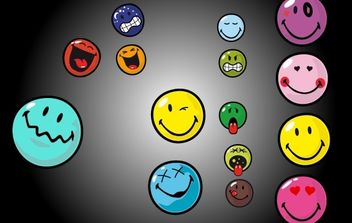 Vector Emoticon Set - Free vector #174365
