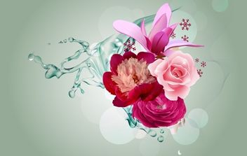 London Flower Bouquet - vector gratuit #174385
