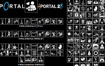 Portal Icon Pack Vector - vector #174415 gratis