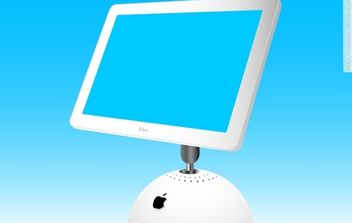 Apple iMac Display Monitor - Kostenloses vector #174495