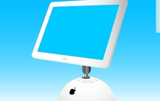 Apple imac pantalla Monitor - vector #174495 gratis