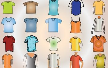 Colorful Template T-Shirt Vector - Free vector #174505