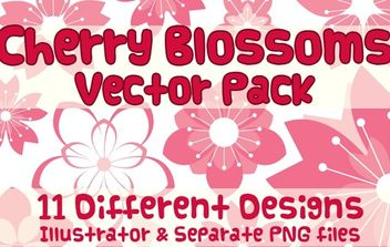 Vector Cherry Blossom Design - vector gratuit #174555