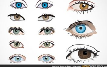 Realistic Woman Eyes Collection - бесплатный vector #174605