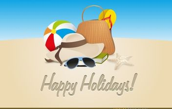 Happy Holidays - vector gratuit #174655