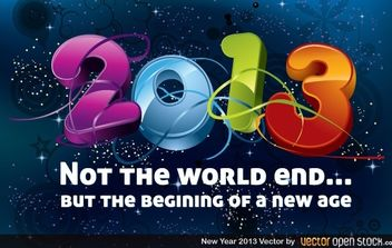 New Year 2013 - vector #174685 gratis