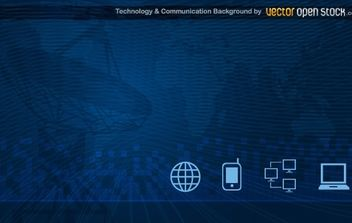 Technology and Communication Background - vector gratuit #174745