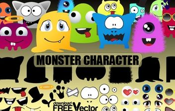 Monsters Character - vector gratuit #174775