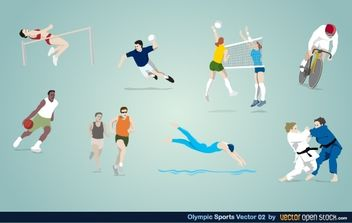 Olympic Sports Vector 02 - vector gratuit #174785