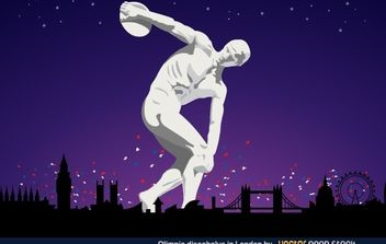 Olympic Discobolus in London 2012 - vector gratuit #174795
