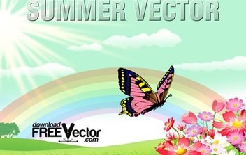 Vector Summer Illustration - Kostenloses vector #174815