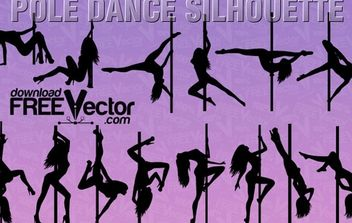 Vector Pole Dance Silhouette - Free vector #174855